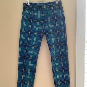 Plaid Pixie Mid-Rise Pants